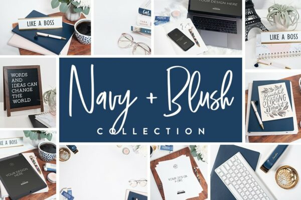 Navy and Blush Collection
