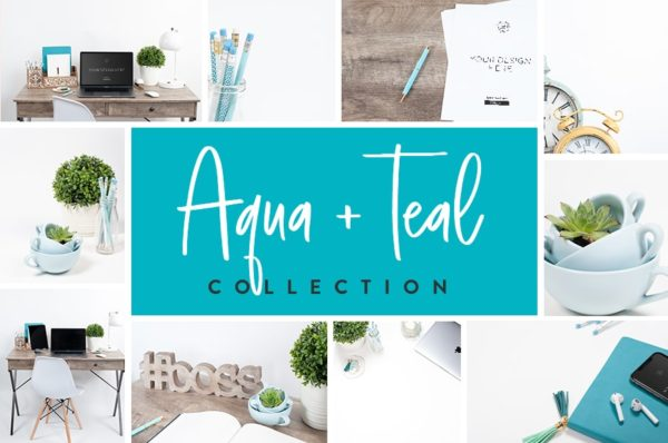 Aqua and Teal Collection